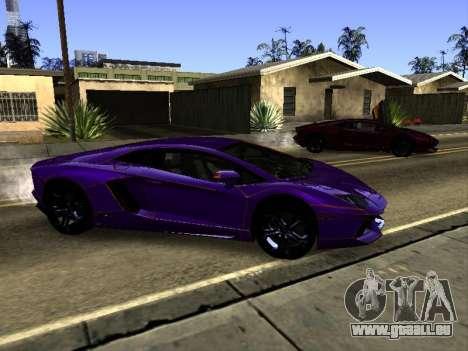 Lamborghini Aventador Tron pour GTA San Andreas vue de dessus