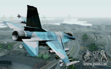 F-16C Fighting Falcon NSAWC Blue pour GTA San Andreas laissé vue