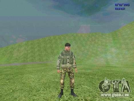 Soldat du bataillon Zorya pour GTA San Andreas deuxième écran
