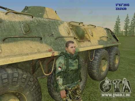Un combattant de Sparte bataillon pour GTA San Andreas troisième écran
