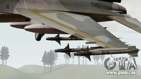 F-16 Scarface Squadron für GTA San Andreas rechten Ansicht