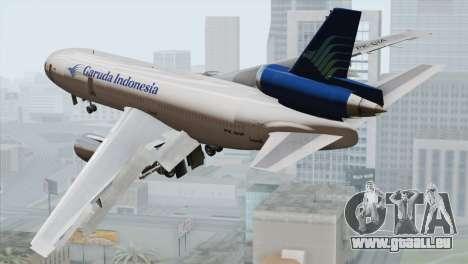 DC-10-30 Garuda Indonesia pour GTA San Andreas laissé vue