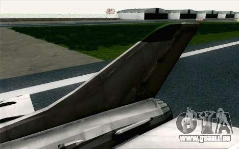 MIG-21 Fishbed C Vietnam Air Force pour GTA San Andreas sur la vue arrière gauche