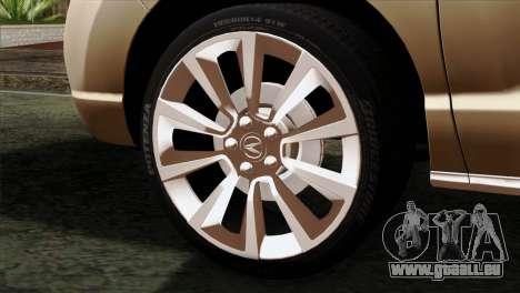 Acura MDX 2009 pour GTA San Andreas sur la vue arrière gauche