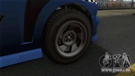 GTA 5 Bravado Buffalo S Downtown Cab Co. pour GTA San Andreas sur la vue arrière gauche