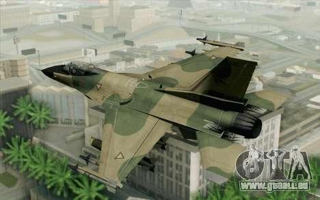 F-16 Fighter-Bomber Green-Brown Camo für GTA San Andreas linke Ansicht