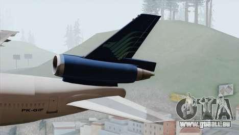 DC-10-30 Garuda Indonesia pour GTA San Andreas sur la vue arrière gauche