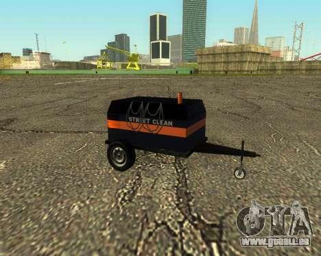 Multi Utility Trailer 3 in 1 für GTA San Andreas zurück linke Ansicht