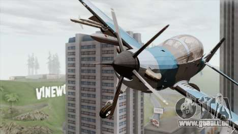 Embraer A-29B Super Tucano Navy Blue pour GTA San Andreas vue arrière