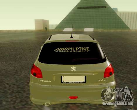 Peugeot 206 Street Racer Tuning für GTA San Andreas rechten Ansicht