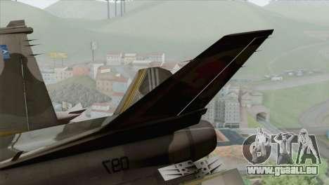 F-16 Scarface Squadron für GTA San Andreas zurück linke Ansicht