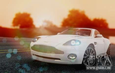 Aston Martin V12 Vanquish 2001 v1.01 pour GTA San Andreas laissé vue