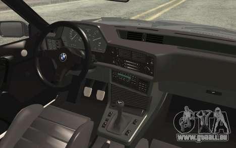 BMW M635CSI E24 1986 V1.0 EU Plate pour GTA San Andreas vue de droite