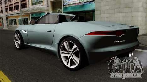 Jaguar F-Type für GTA San Andreas linke Ansicht