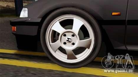 Honda Civic EF Hatchback für GTA San Andreas zurück linke Ansicht