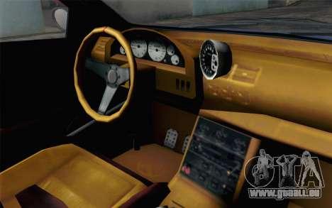 GTA 5 Ubermacht Sentinel XS SA Mobile pour GTA San Andreas vue arrière
