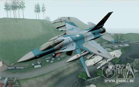 F-16C Fighting Falcon Aggressor BlueGrey pour GTA San Andreas