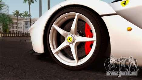 Ferrari LaFerrari 2015 pour GTA San Andreas sur la vue arrière gauche