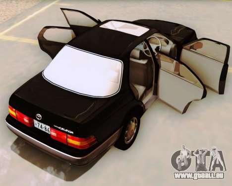 Toyota Celsior pour GTA San Andreas vue intérieure