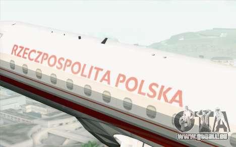 Embraer EMB-175 Republic Of Poland pour GTA San Andreas vue de droite