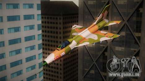 MIG 21 Russian Camo Force pour GTA San Andreas