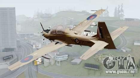 Embraer A-29B Super Tucano RAF Desert pour GTA San Andreas laissé vue