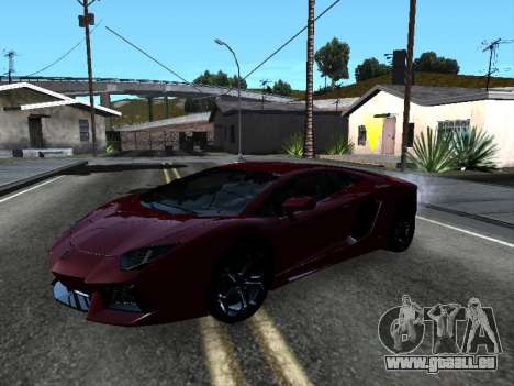 Lamborghini Aventador Tron pour GTA San Andreas moteur