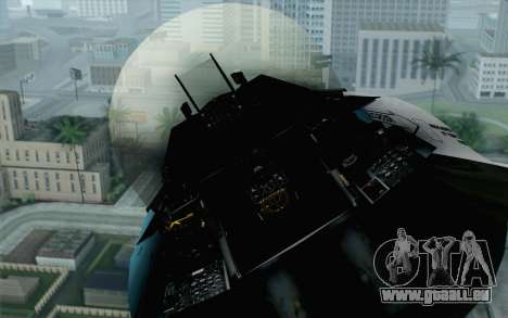 F-16C Fighting Falcon Aggressor BlueGrey pour GTA San Andreas vue arrière
