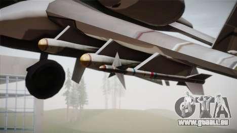 A-10A The Idolmaster -SP- pour GTA San Andreas vue de droite