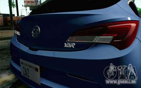 Vauxhall Astra VXR 2012 für GTA San Andreas Rückansicht