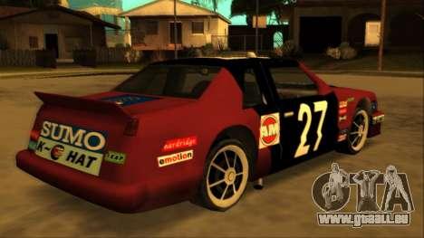 Beta Hotring Racer pour GTA San Andreas vue intérieure