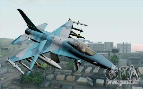 F-16C Fighting Falcon NSAWC Blue pour GTA San Andreas