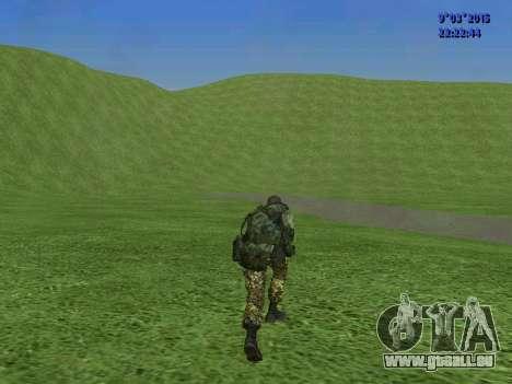 Un combattant de Sparte bataillon pour GTA San Andreas sixième écran