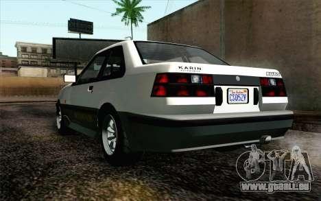 GTA 5 Karin Futo IVF für GTA San Andreas Rückansicht