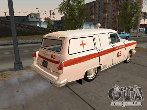 De GAZ à 22 ambulance pour GTA San Andreas sur la vue arrière gauche