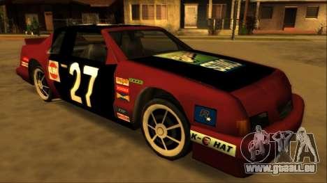 Beta Hotring Racer pour GTA San Andreas sur la vue arrière gauche
