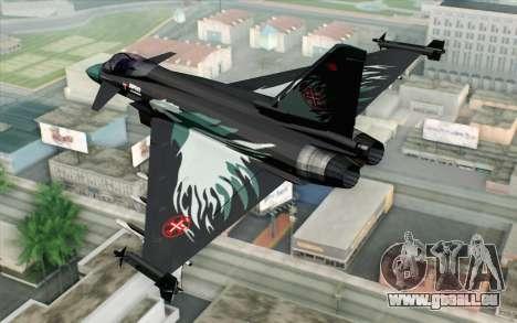EuroFighter Typhoon 2000 Black Hawk pour GTA San Andreas laissé vue