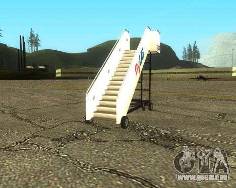 New Tugstair Fly US pour GTA San Andreas sur la vue arrière gauche
