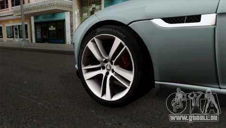 Jaguar F-Type für GTA San Andreas zurück linke Ansicht