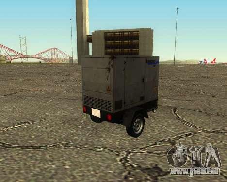 Multi Utility Trailer 3 in 1 für GTA San Andreas Innenansicht