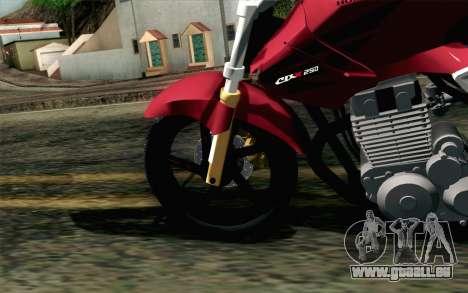 Honda Twister 250 v2 für GTA San Andreas zurück linke Ansicht
