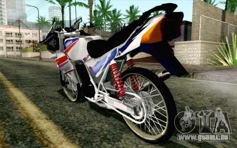 Yamaha RZR 135 Drag pour GTA San Andreas laissé vue