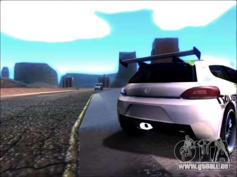 Volkswagen Scirocco Tunable pour GTA San Andreas laissé vue