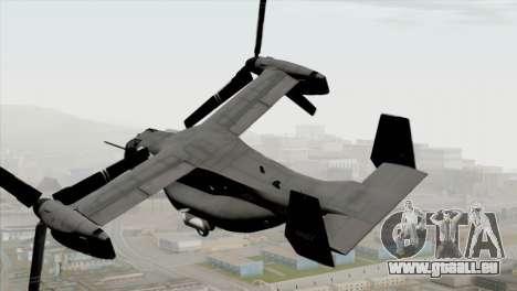 MV-22 Osprey USAF pour GTA San Andreas laissé vue