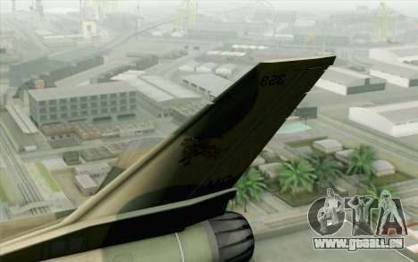 F-16 Fighter-Bomber Green-Brown Camo für GTA San Andreas zurück linke Ansicht