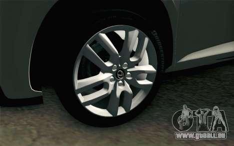 Lexus NX 200T v2 pour GTA San Andreas sur la vue arrière gauche