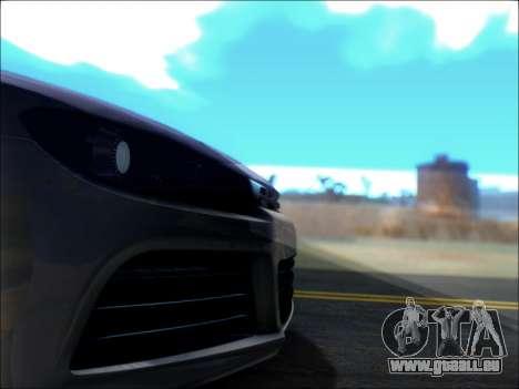 Volkswagen Scirocco Tunable für GTA San Andreas obere Ansicht