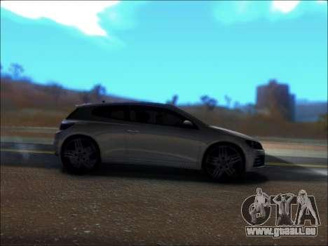 Volkswagen Scirocco Tunable für GTA San Andreas Rückansicht