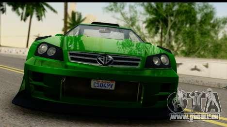 GTA 5 Benefactor Feltzer SA Mobile pour GTA San Andreas sur la vue arrière gauche