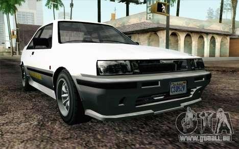 GTA 5 Karin Futo IVF für GTA San Andreas